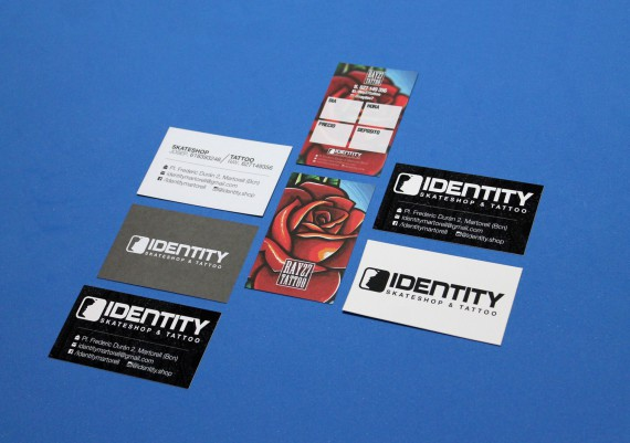 Material Corporativo Identity Skateshop & Tattoo